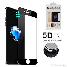 For iPhone 6 7 8 X 5D Curved Full Screen Full Glass Protective Wholesale